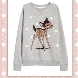 ❤ H&M Disney Bambi Sweatshirt Size M ❤